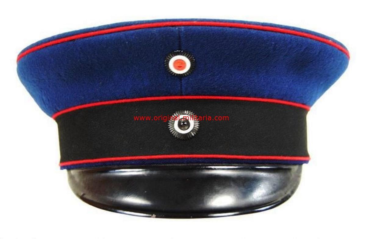 Gorra de Plato Prusiana para los Oficiales de Artillería de Campo, Transporte y Cuerpo del Aíre